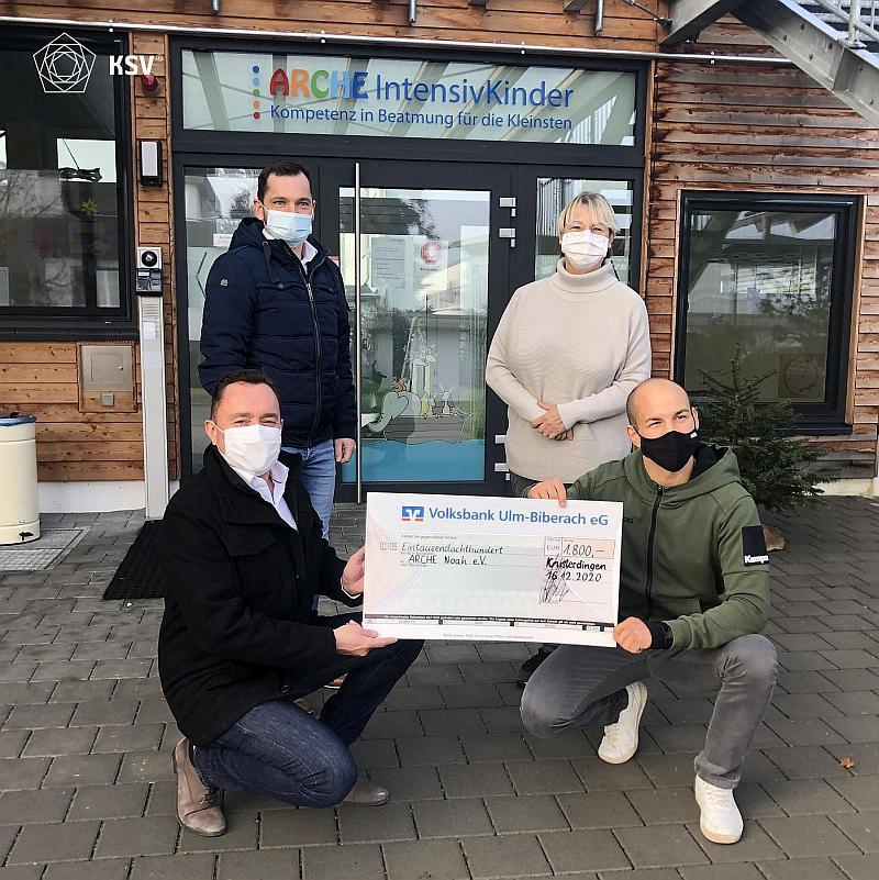 KSV Spendenübergabe an den Förderverein der ARCHE IntensivKinder in Kusterdingen