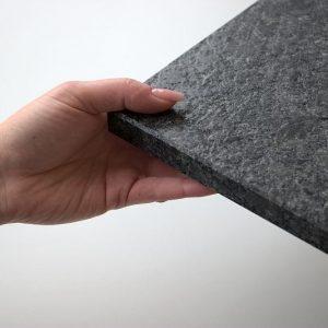 Fensterbank Granit Steel grey, 6 Seiten gebürstet, alle Kanten gefast