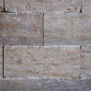 Mauerstein Muschelkalk, gesägt und gespalten