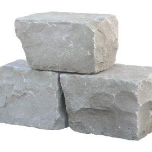 Mauerstein Sandstein Silver Grey, gespalten
