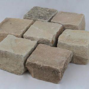Pflasterstein Sandstein Mint, gespalten, gelblich-grün