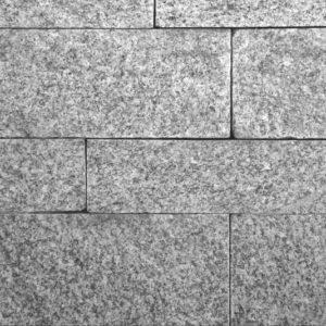 Mauerstein Granit Bravo G603, gesägt und gespalten