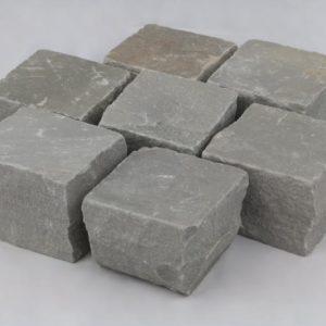 Pflasterstein Sandstein Silver Grey, gespalten