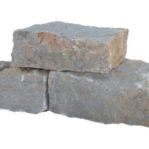 Mauerstein / Quader Muschelkalk, gespalten