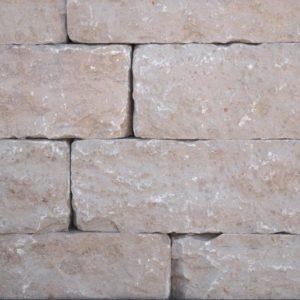 Rebmauerwerk Kalkstein Dietfurt Gala, gespalten gesägt, gespalten und getrommelt