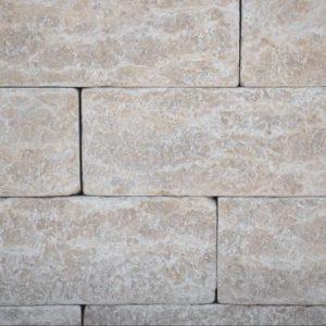 Mauerstein Kalkstein Kanfanar® Typ Pula, 4 Seiten gesägt, 2 Seiten gespalten und getrommelt