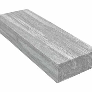 Blockstufe Gneis Silver Stripe, grau-weiß gebändert