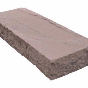Blockstufe Sandstein Terra Modak, gespalten, gelb-rötlich