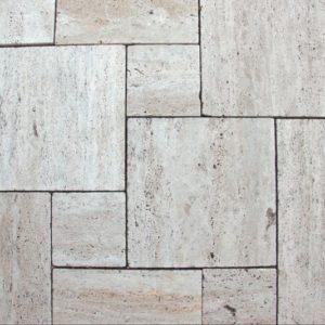 Terrassenplatte Travertin Cavallone®, gebürstet und getrommelt