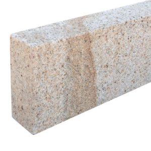 Bordstein Granit Sol G682, gesägt und gestockt