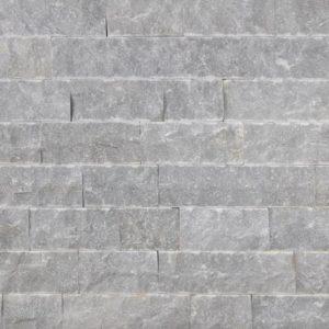 Verblender Marmor Azur, Ansicht gespalten, Kanten und Rückseite gesägt