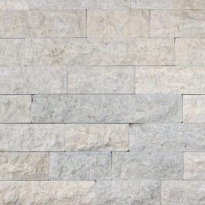 Verblender Kalkstein Bayadere Pula, Ansicht gespalten, Kanten und Rückseite gesägt, getrommelt
