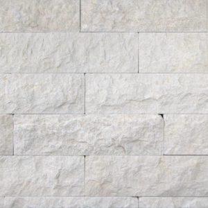 Verblender Kalkstein Kanfanar® Pula, Ansicht gespalten, Kanten und Rückseite gesägt, getrommelt