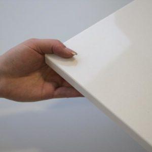 Fensterbank Quarzkomposit Agglo Super White, poliert