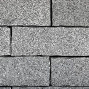 Mauerstein Granit Gala VN, 4 Seiten gesägt, 2 Seiten gespalten, Kanten zurückgeschlagen