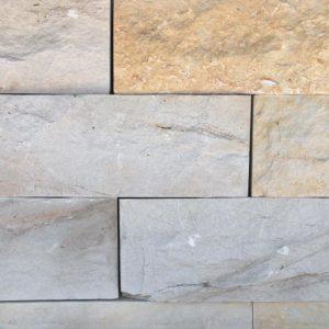 Mauerstein Sandstein Hockenau, 4 Seiten gesägt, 2 Seiten gespalten