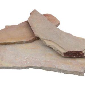 Polygonalplatte Quarzit Rio Dorado, spaltrau, rosé