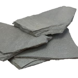 Polygonalplatte Quarzit Alta, spaltrau, grau-grün