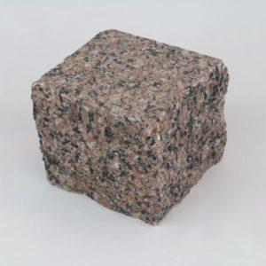 Pflasterstein Granit Rosa Raveno, Oberfläche geflammt, Kanten gespalten