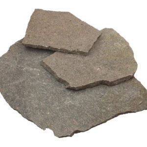 Polygonalplatte Porphyr, spaltrau, gemischtfarbig