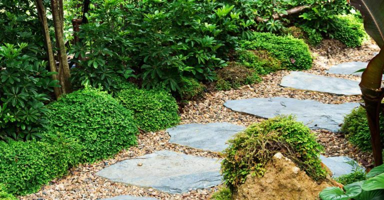 Trittsteine und Trittplatten aus Naturstein